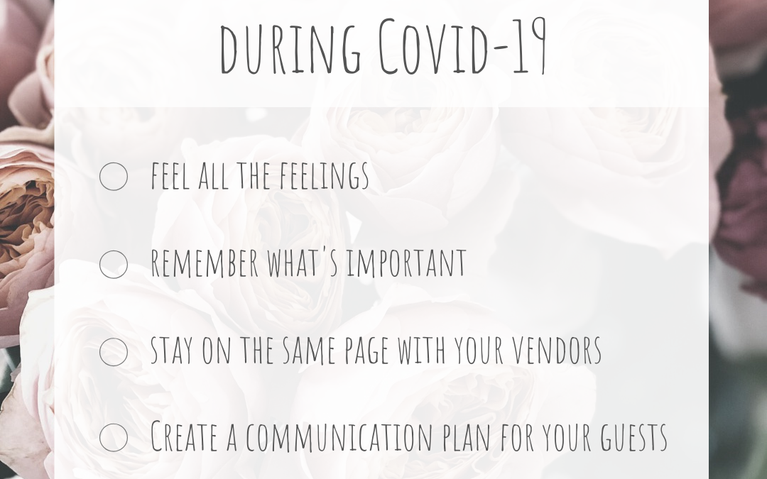 Advice for Planning your Wedding During COVID-19